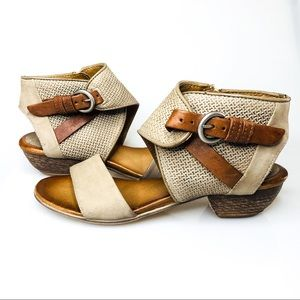 Miz Mooz Cheerful Buckled Strap Open Toe Sandals